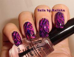 Nails by Malinka: Alcohol inks en MoYou Princess 13