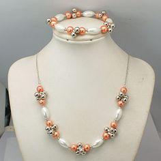 Fashion Glass Pearl Jewelry Sets: