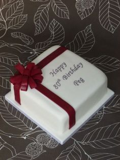 80th Birthday Cake | Baking Obsession!