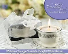 Teapot wedding - tea cup candle favours