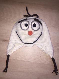 Olaf Mütze gehäkelt Olaf, Winter Hats, Crochet Hats, Beanie, Knitting Hats, Beanies, Beret