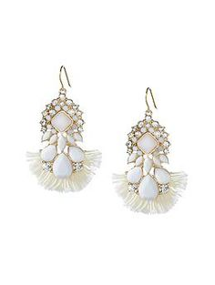 Accessorize! Banana Republic Shimmer Chic Statement Earring.