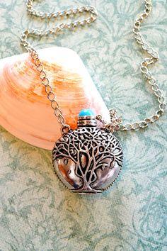 Large Perfume Bottle Necklace Vintage Style by DebbieReneeVintage, $28.00