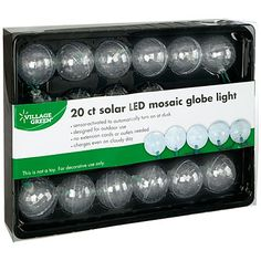 Village Green® 40-Count Solar LED Globe Lights - bought these and they are now hanging in the big old lilac tree in the back yard!