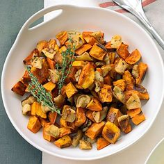 Roasted Sweet Potatoes and Apples Recipe | MyRecipes