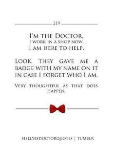 Doctor Who I live for silliness like this xD