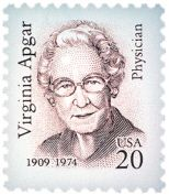 Virginia Apgar (7 June 1909–7 August 1974) was an American obstetrical anesthesiologist. She was a leader in the fields of anesthesiology and teratology, and introduced obstetrical considerations to the established field of neonatology. To the public, however, she is best known as the developer of the Apgar score, a method of assessing the health of newborn babies that has drastically reduced infant mortality over the world.