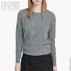 Купить Свитер серый кашемировый. Свитер женский - купить свитер, свитер теплый…
