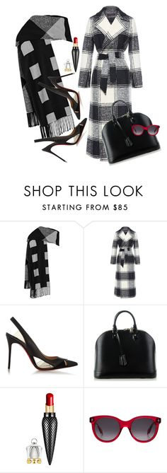 """""""Check, Check, Check"""" by jacque-reid ❤ liked on Polyvore featuring Burberry, Martin Grant, Christian Louboutin, Louis Vuitton, Alexander McQueen, AlexanderMcQueen, louisvuitton, christianlouboutin and MartinGrant"""