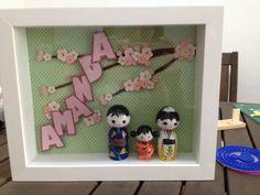 Enfeite para porta de maternidade - Tema: Sakura (Amanda) #enfeitematernidade #babygirl #sakurababy