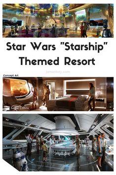 "Star Wars Land ""Starship"" themed resort concept for Walt Disney World"