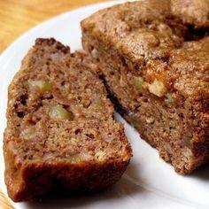 Healthy Dessert: Vegan Banana Apple Chunk Bread