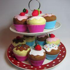 felt cupcake play food