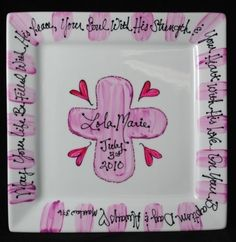 baptism plate   Baby gifts   Pinterest   Baby baptism gifts, Baby ...
