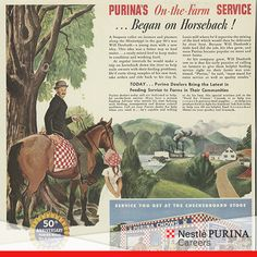 #TBT This 1944 advertisement, which celebrates Purina's 50th anniversary, serves as recognition as we celebrate our 121st birthday today since the company was incorporated on January 8, 1894.
