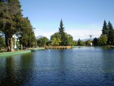 """la """"laguna"""" de la Plaza Pagano, hermosa vista cuando tiene agua."""