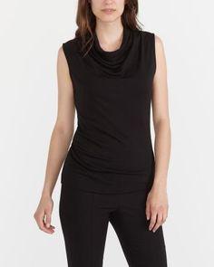 edd279f427b0a    Cowl Neck Sleeveless Top ~ Reitmans Womens Sleeveless Tops