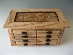 Handmade wooden jewelry box with lots of storage Box Inspiration