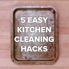 5 Easy Kitchen Cleaning Hacks