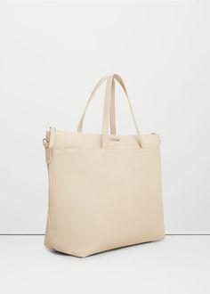 Τσάντα shopper pebbled | MANGO ΜΑΝΓΚΟ
