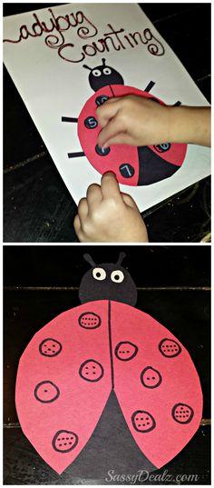 Diy ladybug number counting and matching activity craft - Sassydeals com ...