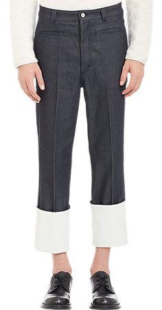 LOEWE Cuffed Raw Denim Trousers