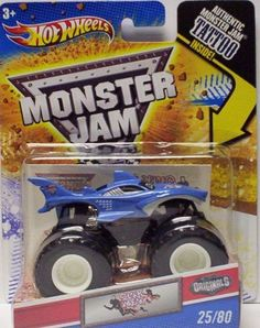 2011 Hot Wheels Monster Jam #25/80 SHARK WREAK 1:64 Scale Collectible Truck with Monster Jam TATTOO
