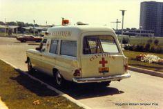 1969 white Canadian Mercedes Benz ambulance