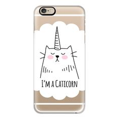 iPhone 6 Plus/6/5/5s/5c Case - I'm a Caticorn - Cat - Unicorn ($40) ❤ liked on Polyvore featuring accessories, tech accessories, iphone case, iphone cover case, apple iphone cases and cat iphone case