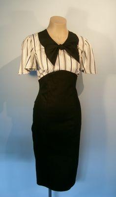 1930s style Frankie dress with stripe/dot bodice by hopeandanchor