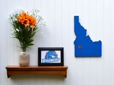 Boise State Broncos State Heart wall art by StateYourTeam on Etsy, $29.00