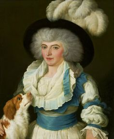 Portrait of  lady with a dog by Anonymous Painter, 1790s (PD-art/old), Muzeum Narodowe w Warszawie (MNW)