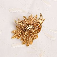 Vintage Gold Tone Brooch by TwiceBakedVintage on Etsy, $13.00