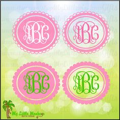Scallop Oval Monogram Frame Base Solid and Lace Designs Digital Clipart Instant Download Full Color Jpeg, Png, SVG, DXF EPS Files - pinned by pin4etsy.com