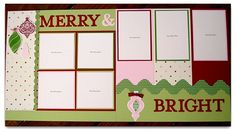 stampin up scrapbook layouts - Bing Images Christmas Scrapbook Layouts, Scrapbook Paper Crafts, Scrapbook Cards, Christmas Layout, Paper Crafting, Christmas Decor, Scrapbook Layout Sketches, Scrapbooking Layouts, 6 Photos