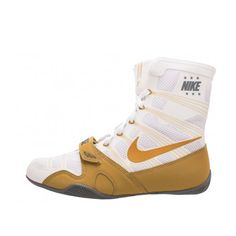 Keeping the Nike HyperKO strong and light are Nike Flywire supports Boxing Boots, Boxing Gloves, Combat Sport, Nike Gold, Training Equipment, Nike Shoes, High Top Sneakers, Metallic Gold, Footwear