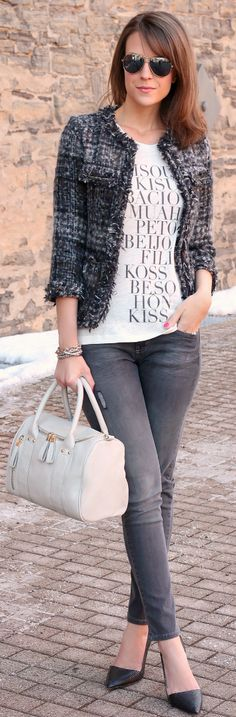Casual Tweed by Penny Pincher Fashion => Click to see what she wears