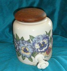 Water Crock Container, Pansy Flowers, Santa Barbara Ceramic Design, vintage 90's | eBay Ceramic Design, Pansies, Crock, Ebay, Ceramics, Vintage, Saints, Ceramica, Pottery