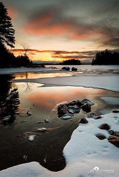 Fire and Ice - Wood Lake ... Bracebridge, Ontario, Canada.