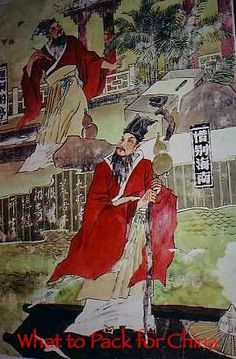 China travel clothing image of Chinese painting on wall of stone museum Haikou Hainan China