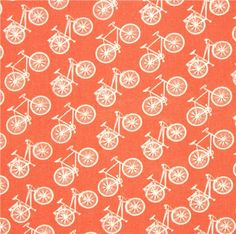 coral birch bike organic fabric from the USA 2