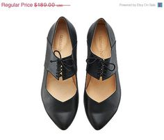 EASTER SALE Black shoes, Vicky, handmade, ballerina shoes, flats, leather shoes, by Tamar Shalem on etsy