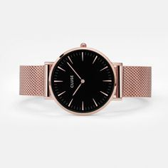CLUSE La Bohème Mesh Rose Gold/Black CL18113