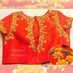 Hand Work Blouse Design, Stylish Blouse Design, Fancy Blouse Designs, Bridal Blouse Designs, Saree Blouse Patterns, Saree Blouse Designs, Blouse Styles, Maggam Work Designs, Indian Blouse
