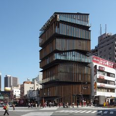 Asakusa Culture and Tourist Information Center by Kengo Kuma  The stack of seven units won over 300 other proposals in the competition to design a tourist hotspot.