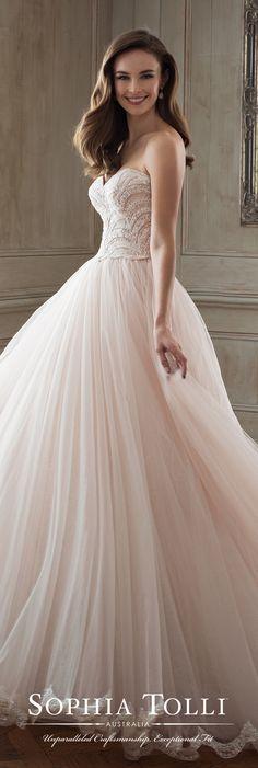 Ballgown Wedding Dress by Sophia Tolli for Mon Cheri Bridals #weddingdresses #weddinggowns #bridaldress #bride #bridal #bridalgown #brides #weddings