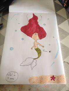 Ariel a sept ans  Fait par ma fille Kiara 🦄