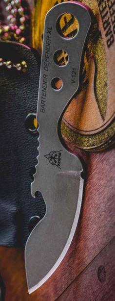 Tops Knives Bartender Defender Fixed Blade Knife