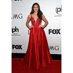 Miss Teen USA Katherine Haik Red Evening Gown Prom Dress 2015 Miss Universe Pageant #MissTeenUSA #2015MissUniverse #KatherineHaik #redballdress #dress