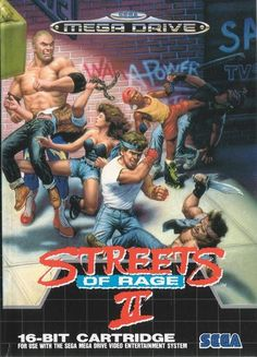 Streets of Rage II (Mega Drive) - More Streets Of Rage Box Art goodness! Streets of Rage II (Mega Drive) - More Streets Of Rage Box Art goodness! Sega Mega Drive, Mega Drive Games, Playstation, Xbox, Rage, Classic Video Games, Retro Video Games, Die Avengers, Videogames